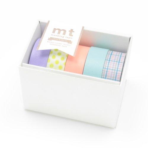 MT Kamoi Kakoshi Masking Tape Gift Box Pastel, 15mm Width, 10mm Roll In 5 Pieces (MT05G003)
