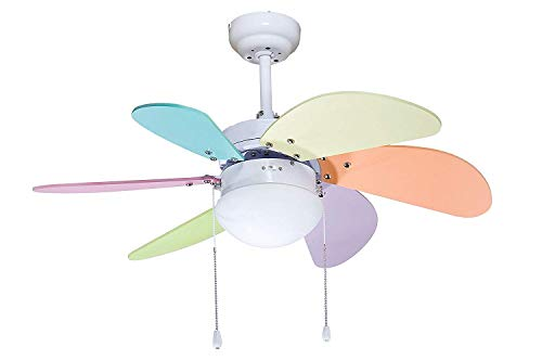 - Colorful Ocean Lamp Ceiling Fan 32In OL-36009-C For Baby/Kids Room