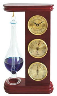 Ambient Weather WS-YG720 Thermometer, Liquid Barometer, Hygrometer and Clock Weather Station Analog Weather Stations