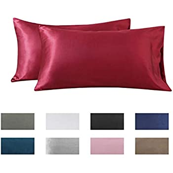 Amazon Com 2pc New Queen Standard Silk Y Satin Pillow