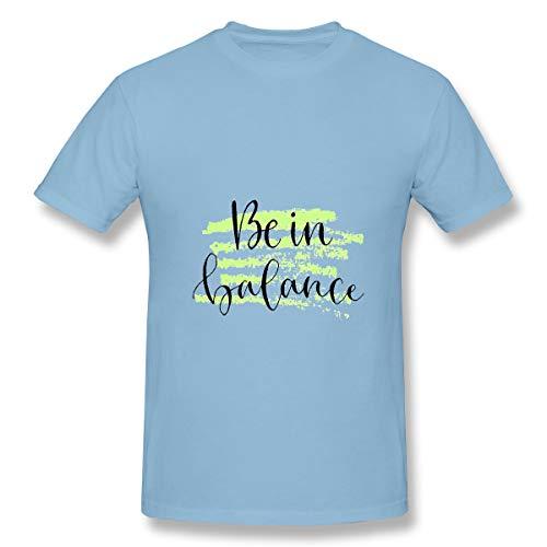 YILINGER Mens Cotton T-Shirt be Balance Handwritten Greeting Card Printable Quote Light -