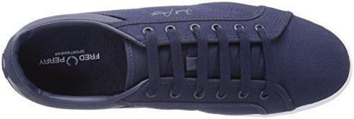 Fred Perry Mens In Pelle Scamosciata Fashion Sneaker Blu Carbonio / Edera