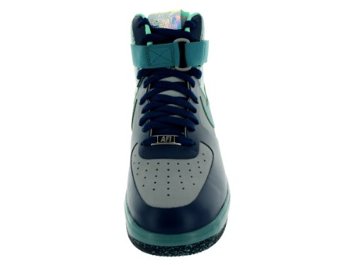 Nike Mens Lunar Force 1 Ns Hi Prm Argento / Minerale Teal Scarpe Da Basket 12 Uomini Noi