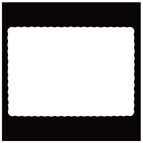 Rectangle Disposable Paper Placemat (100 Pack) - 10 x 14 Inches White Eco-friendly Heavy weight Thick paper Place Mat Wavy Scalloped - Placemats 14 Inch Paper