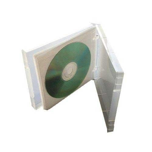 (50) Clear 12-Disc Capacity CD DVD 2-Ring Album Wallet Book Storage CDBR2412CL (UniKeep Style)