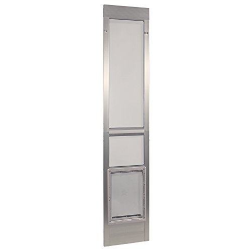 Ideal Pet Products Aluminum Modular Pet Patio Door, Extra Large, 10.5″ x 15″ Flap Size, Mill (Silver)