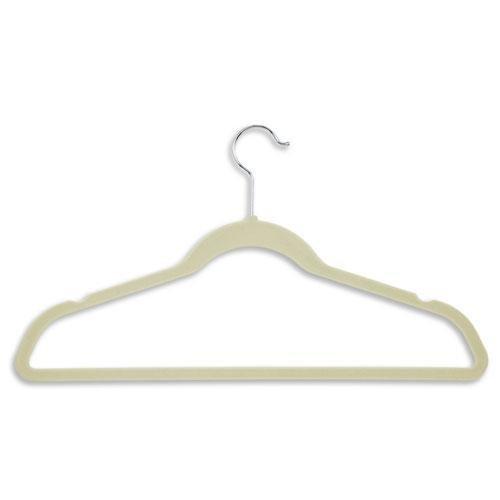 Hang-It Ultra Thin Heavy Duty No Slip Velvet Suit Hangers (200 Pack), Beige by Hang-It