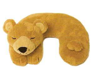 Brown Bear Childs Travel Support Neck Rest Pillow