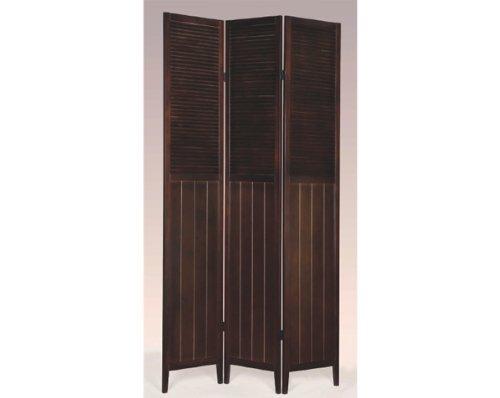3 Panel Room Divider - Wood Espresso