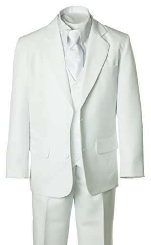 Boys White Suit with First Holy Communion Cross