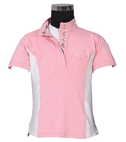 Equine Couture Children's Cara Short Sleeve Show Shirt | Color - Pink | Size - Medium