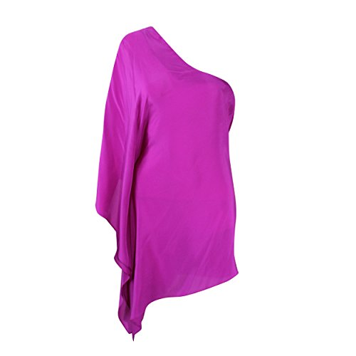 Label Blaque - Blaque Label Womens Hot Pink One Shoulder Blouse Hot Pink Medium