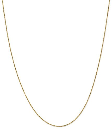 ICE CARATS 14k Yellow Gold .8mm Baby Spiga Link Wheat Chain Necklace 20 Inch Fine Jewelry Gift Set For Women Heart by ICE CARATS