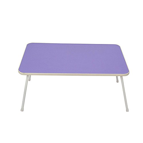GZH Portable Folding Laptop Desk Length 58cm Width 35cm Height 30cm (Color : Light purple) by GZH