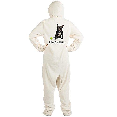 CafePress - French Bulldog Life - Novelty Footed Pajamas, Funny Adult One-Piece PJ Sleepwear (Funny Onesie Adults)