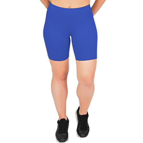 Stretch is Comfort Women's Cotton Bike Shorts Royal Blue 2X by Stretch is Comfort