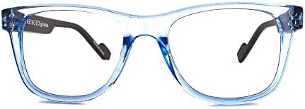 Retro Eyeworks Superflex Wayfarer Bifocal Reading Glasses 51-19 MM 1.5x Transparent Blue