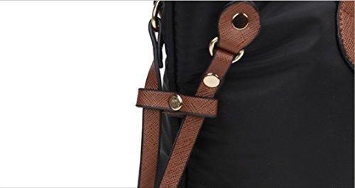 PDFGO Bolsos De Moda Bolsa Impermeable Bolsa De Tela De Oxford Bolsa De Gran Capacidad Bolso De Hombro Black
