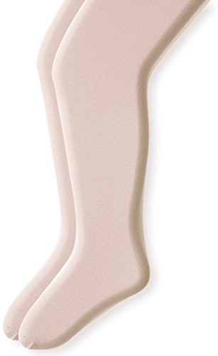 Country Kids Baby Girls' Signature Microfiber 3D Opaque Tights 2 Pair Pack, Ivory, 12-24 ()