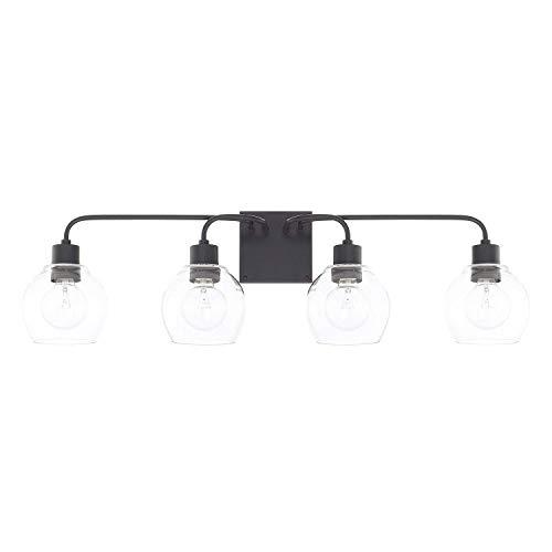 Capital Lighting Traditional Matte Black Four Light Vanity (1 Pack Four Light Vanity)