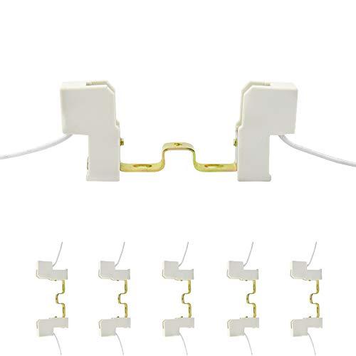 - Bonlux J78 R7S Bulb Socket - 78mm Double Ended Socket R7S Base Lamp Holder Connector Metal Ceramics Handle for Flood Light, Work Light, Floor Lamp (5-Pack)