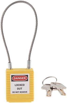 shamjina 3ピース/個安全ロックアウト南京錠、6ピンシリンダー