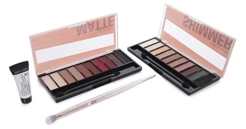 Wet n Wild Matte N Shine Set ~ Brush, Primer, Matte & Shimmer Eyeshadow Palettes
