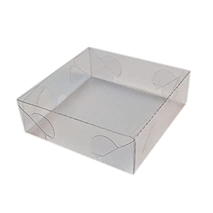 mytorten País Acetato KartonProfis transparente 5 x 5 x 6,5 cm 5 Unidades 9x9x3cm