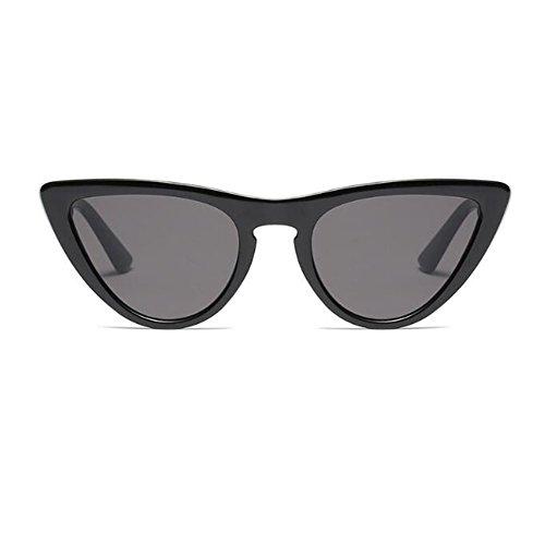 Estilo gato de sol de Negro Hzjundasi Gafas Lente Marco para UV400 Moda Rock Mujer C1 Gris Bisagra primavera Ojo Escoger Retro Enorme Gafas Color 8 de 7tC7Uwq