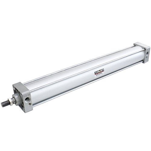 Baomain Pneumatic Air Cylinder SC 63 x 500 PT 3/8, Bore: 2 1/2 inch, Stroke: 20 inch, Screwed Piston Rod Dual Action