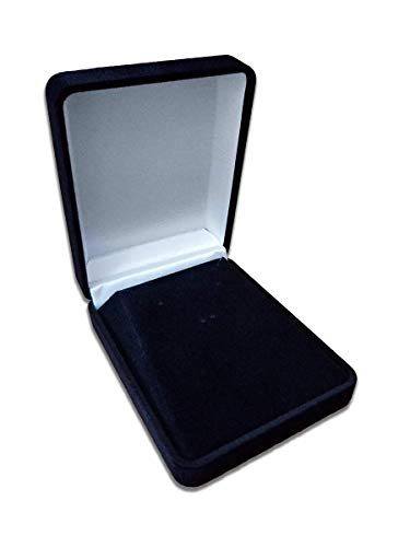 Logos Trading Post Large Black Plush Jewelry Box - Pendant Necklaces, Earrings, Bracelets, and More