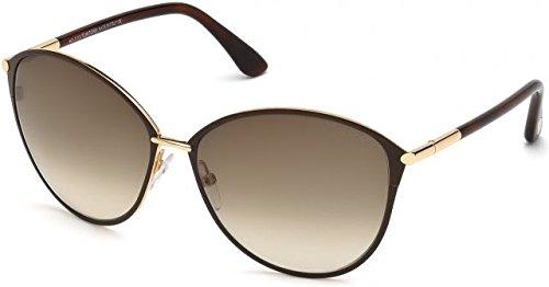 (Tom Ford Sunglasses Women TF 320 Brown 28F Penelope 59mm)