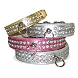 DD Design Celebrity Rhinestone Dog Collar, Small, Pink