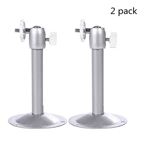 Security Camera Wall Mount, YongTao Aluminum Alloy Adjustable Indoor & Outdoor Heavy Duty Ceiling Bracket for Arlo Cam,Arlo Pro,Arlo Pro 2,Baby Monitor,Wyze Cam,Pan 1080p Pan,CCTV etc. (Silver, 2PACK)