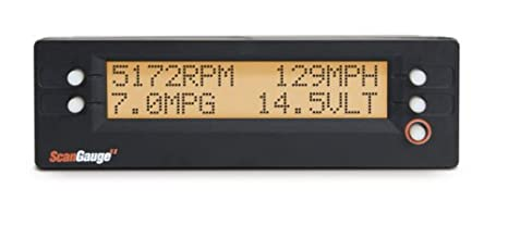 ScanGauge II Ultra Compact 3-in-1 Automotive Computer with Customizable Real-Time Fuel Economy Digital Gauges Linear Logic SG2