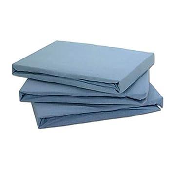 Tonys Textiles Sábana Bajera - 100% algodón de Jersey elástico - Cuidado fácil - Azul