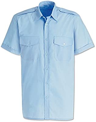 Alexandra stc-sg2pb-16 camisa de piloto para hombre, Plain, 65% poliéster/35% algodón, tamaño: 16, color azul claro: Amazon.es: Industria, empresas y ciencia
