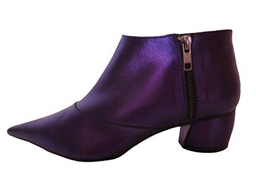 Buffalo London 11174-236 LAMINADO 145805 Damen Ankle Boots Stiefelette, blau-lila (SURABAYA 01), EU 36