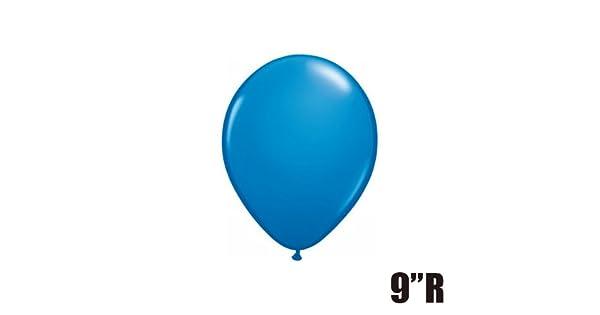 "Qualatex 9/"" Round Dark Blue Latex 100 Count Balloons"