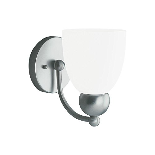 Sea Gull Lighting 41035-962 Metropolis 1-Light Vanity, Brushed-Nickel Finish, Satin-Etched Glass