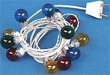 Christmas Lights Volt 12 (Dollhouse Miniature 12V Stringed Christmas Ornament Lights)
