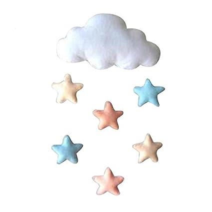 OPEN BUY Adorno colgador nube blanca con estrellas decoracion ...