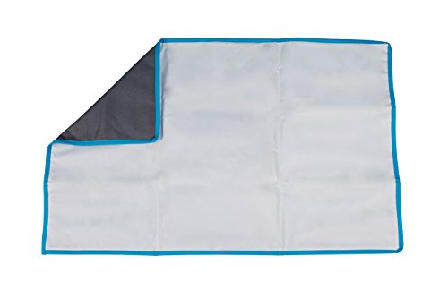 """J.L. Childress Full Body Portable Baby Changing Pad, Fully Padded for Baby's Comfort, Waterproof, Opens to 19"""" x 30"""", Grey/Teal"""