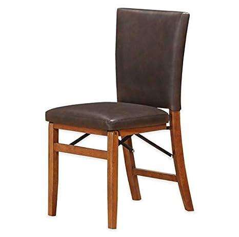 Fabulous Amazon Com Parsons Folding Dining Chair Light Oak Wood Ibusinesslaw Wood Chair Design Ideas Ibusinesslaworg