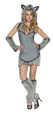 Wolf Dress Costume (Delicious Wolf Costume, Grey, Medium)