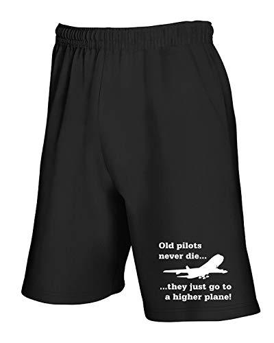 Tuta Pilots Pantaloncini Old Fun2957 Nero shirtshock T q1HUTP4