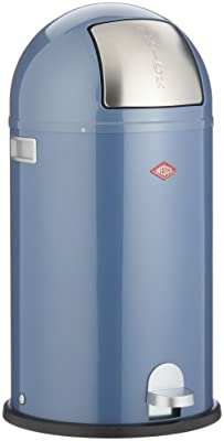 Wesco Kickboy Wit.Wesco Kickboy 177 31 Bin With Pedal Artic Blue Amazon Co Uk