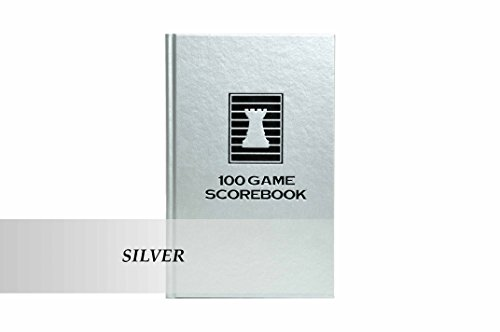 The House of Staunton US Chess Federation Luxury Hardcover Chess Scorebook - Silver
