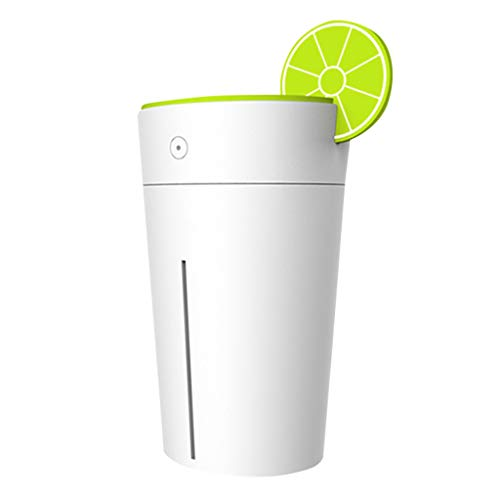 (SMALLE ◕‿◕ Air Humidifier for Office, 200 Ml Capacity Portable Lemon Cup Shaped Cool Mist USB Air Humidifier Diffuser)