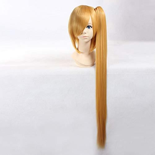 HOOLAZA Blonde Extra Long Straight Wig Vocaloid Akita Neru Deidara Naruto for the Halloween Party Cosplay Wigs